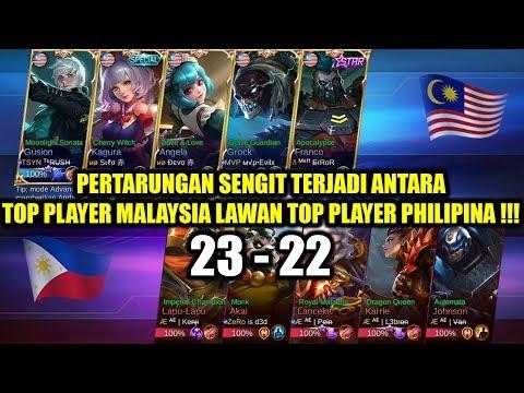 PERTARUNGAN SENGIT !!! Top Player MALAYSIA VS Top Player PHILIPINA National Arena Contest