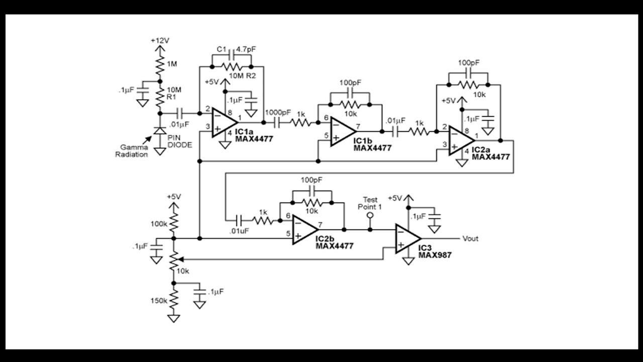 Gamma Photon Radiation Detector With Pin Diode Youtube Bpw34 Photodiode Circuit