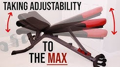 ULTRA Adjustable Bowflex Exercise Workout Bench - Don't settle for 3.1 when you can have 9.1 - DIY