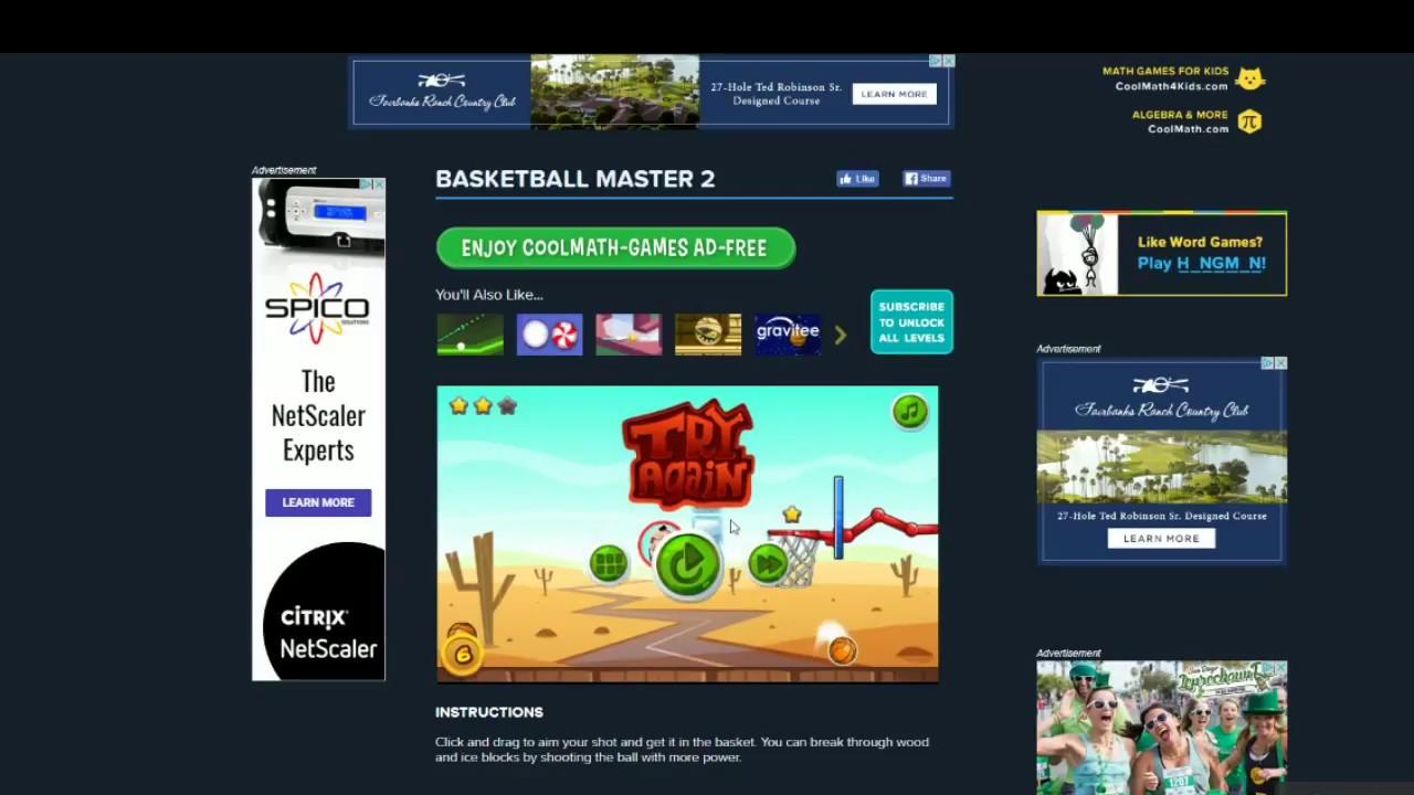 Cool Math Games Basket Ball Master 2