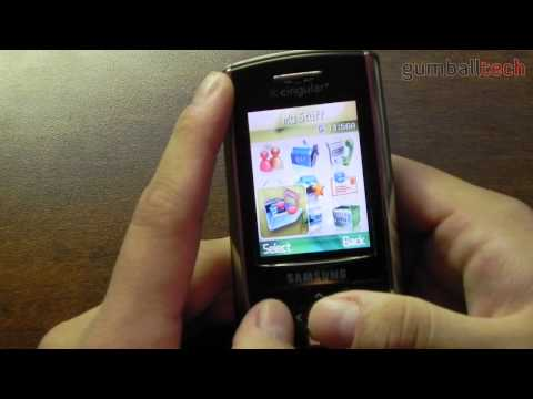 Samsung SGH-D807 Overview (a phone from 2006)