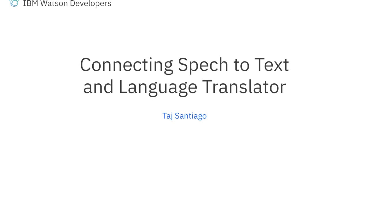 Watson Unity SDK: Connecting the Speech to Text example to the Language  Translator Demo