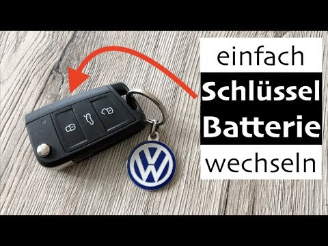 vw golf 7 schl ssel batterie wechseln so einfach gehts. Black Bedroom Furniture Sets. Home Design Ideas