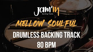 Mellow Soulful Drumless Backing Track 80 BPM