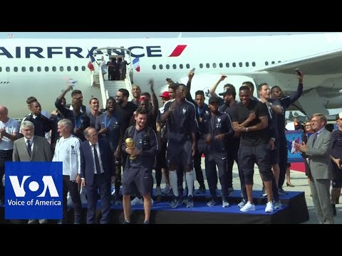 World Cup-winning French team returns home