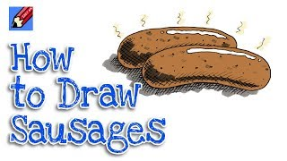 How to draw Sausages Real easy for Kids and Beginners