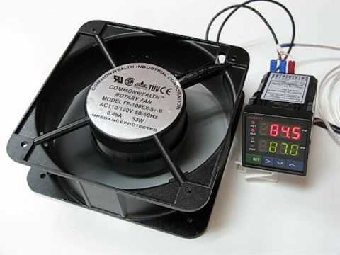 jld612 temperature controller simulating heating process with a ac110v fan  (heater)