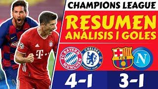 RESULTADOS partidos CHAMPIONS LEAGUE hoy [BARCELONA vs NAPOLI 3-1 • BAYERN vs CHELSEA 4-1] 2020 🏆⚽️