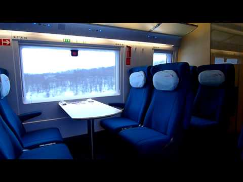 Поездка в салоне поезда Сапсан