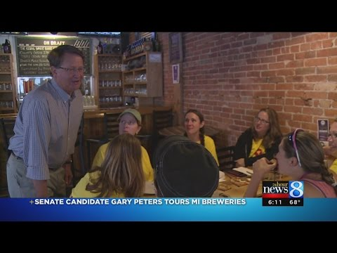 Senate candidate Gary Peters tours MI breweries