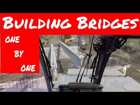 Precast Concrete Bridge Construction   Tadano 180g-5