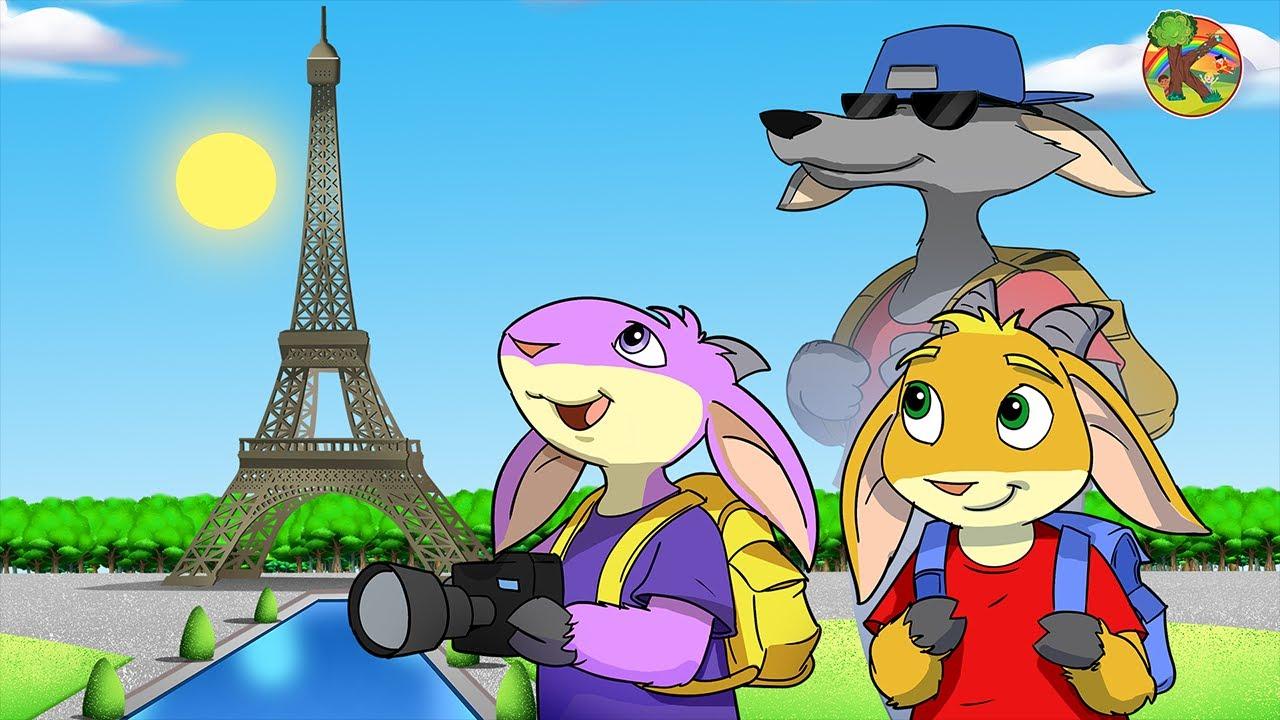 大野狼與七隻小羊 - 世界城市大冒險 巴黎   KONDOSAN 中文 - 童話故事   兒童動畫   卡通