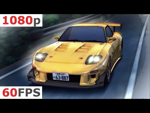 Initial D: Fifth Stage - 2 - New Battlefield [1080p 60 FPS]