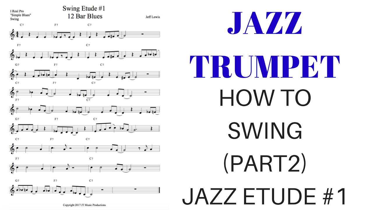 Jazz Trumpet, How to swing (part 2), Jazz Etude #1