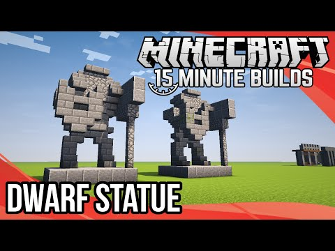 Minecraft 15-Minute Builds: Dwarf Statue
