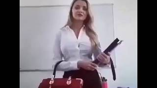 Hot teacher Big boobs to stupid students 🔥🔥🔥