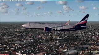 Санкт-Петербург (Пулково) - посадка под углом к ВПП (Аэрофлот)