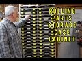 Rolling Parts Storage Case Cabinet