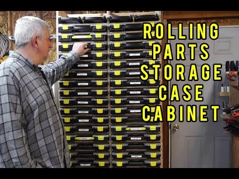 Rolling Parts Storage Case Cabinet Youtube