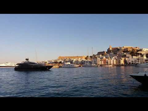 Amazing Mega Yacht in Ibiza Harbour
