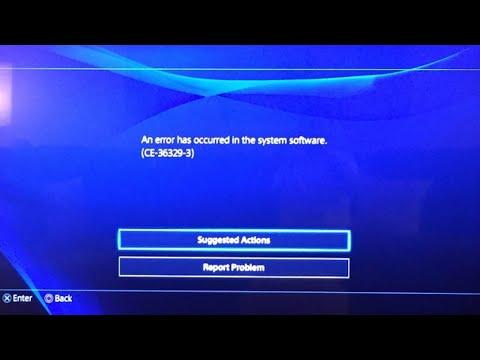 CE-36329-3 PS4 Error Code Hardware Update Fix.