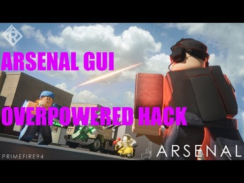 ARSENAL OVERPOWERED GUI ! ROBLOX HACK EXPLOIT SCRIPT INFINITE AMMO BIG HITBOXES