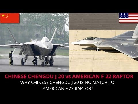 CHINESE CHENGDU J 20 vs AMERICAN F 22 RAPTOR - FULL ANALYSIS