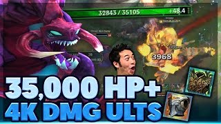 THIS ULT ONE SHOTS TANKS   RP GIVEAWAY   MOST HEALTH EVER?   35K HP CHO'GATH SUPPORT   BunnyFuFuu