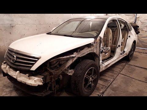 Nissan Teana. Замена аирбега. Ремонт чехла.  Airbag Replacement. Cover Repair.
