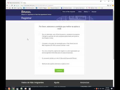 How to set up the F-1 visa interview in Portuguese (part 1 )