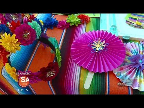 DIY Fiesta paper flower halos and fans | Forever Petals by Vee | SA Live | KSAT