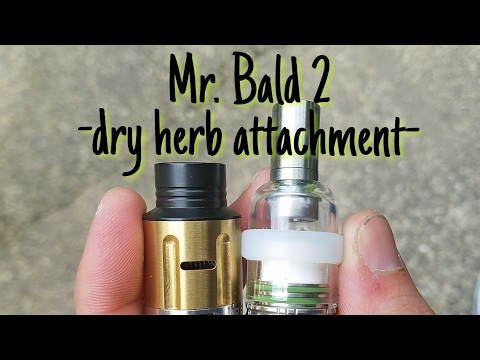 Mr. Bald 2 - dry herb attachment