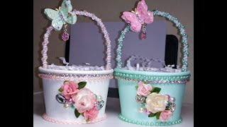 DIY~Gorgeous Gift Baskets Made With D.T. Paper Party Cups!
