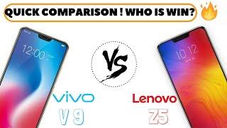 Lenovo Z5 vs Vivo V9 Quick Comparison ! Who is Win?