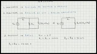 Ejercicio de Aplicacion Divisor de Tension o Voltaje - Circuitos Electricos