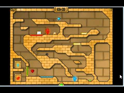 Fireboy And Watergirl 2 Light Temple Level 12 Youtube