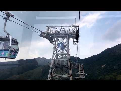 Cable car to Tian Tan Buddha, Lantau Island, Hong Kong