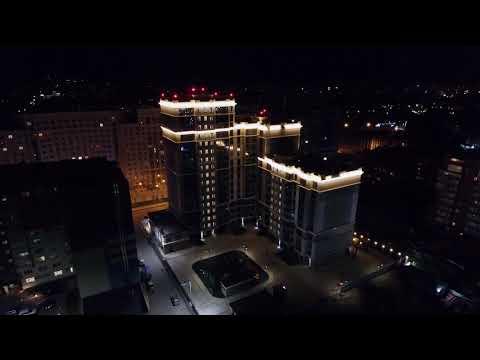 """Архитектурная подсветка фасадов для жилого комплекса """"Наследие"""", г.  Рязань"""