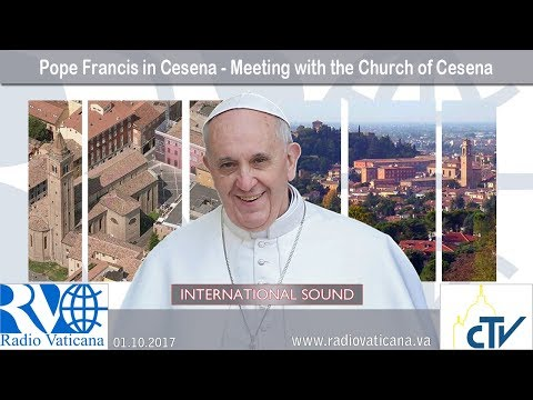 2017.10.01 - Pope Francis in Cesena - Meeting with the Church of Cesena