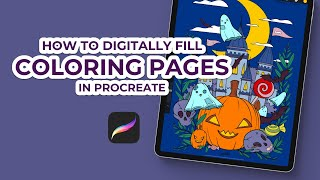How To Fill Coloring Pages In Procreate Fun Relaxing Easy Shorts Youtube
