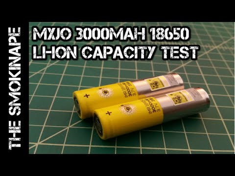 MXJO 3000mah 18650 Li-ion Rechargeable Battery Capcaity Test - TheSmokinApe