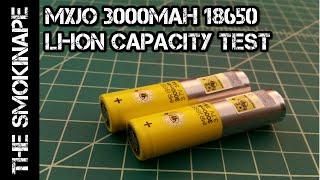 mxjo 3000mah 18650 li ion rechargeable battery capcaity test thesmokinape