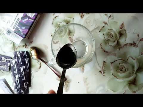 Маска из желатина и активированного угля от черных точек