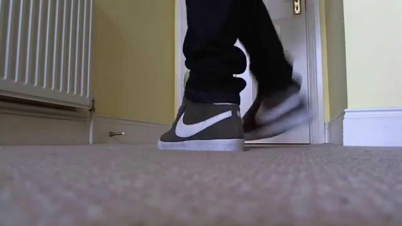 dd90ea96325b40 Nike Blazer Premium Shoes on my feet - YouTube