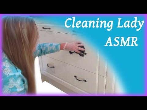 Cleaning Lady ASMR Kitchen Cabinets