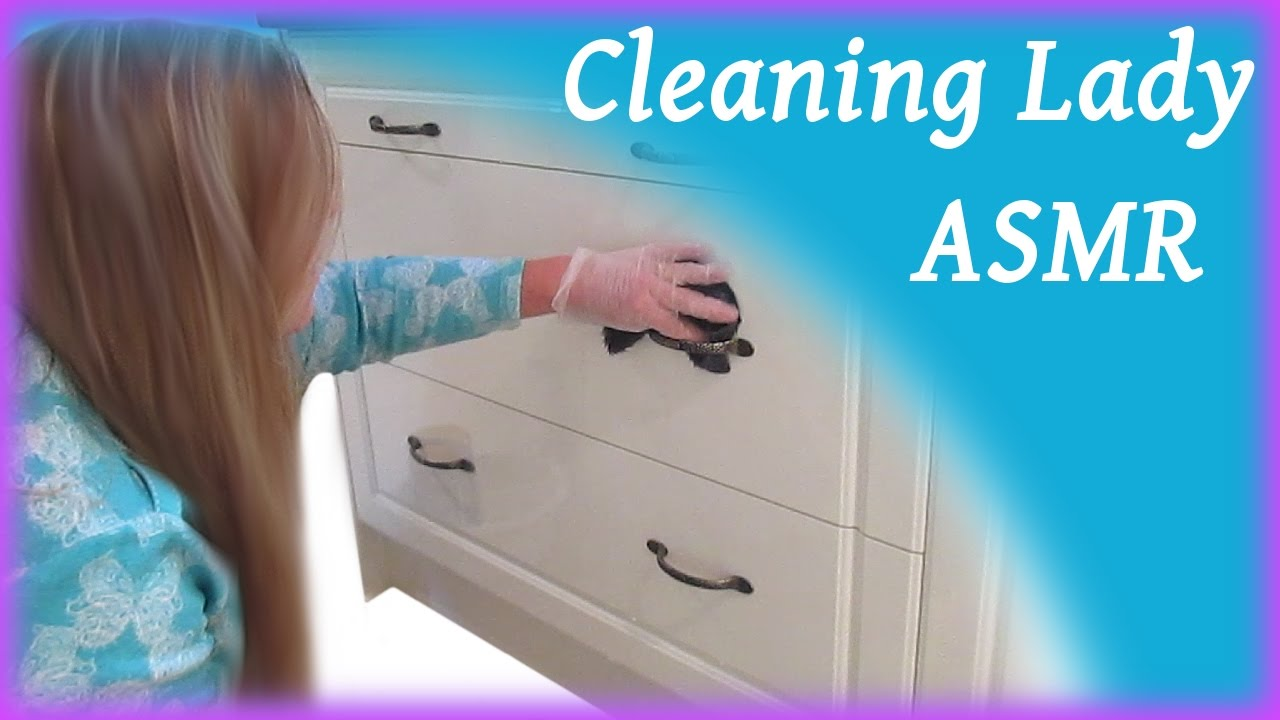 Cleaning Lady ASMR Kitchen Cabinets - YouTube