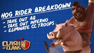 Breakdown of the Hog Rider Expert Attack | Clash of Clans 3 Star Strategy Explained!