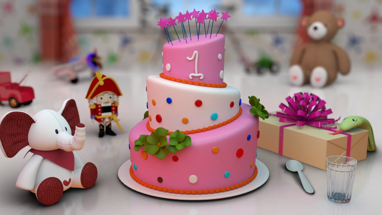 Birthday cake 3d animation image inspiration of cake and for 3d decoration for birthday