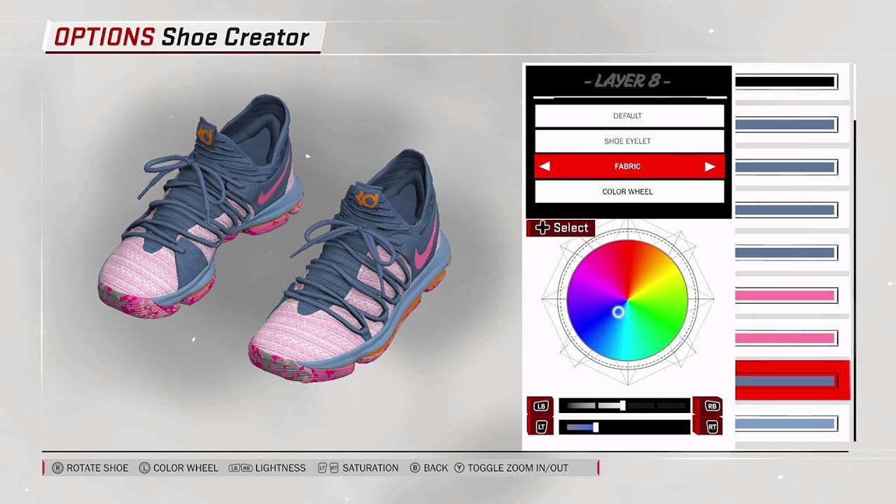 cheap for discount 7e09d 44b5d NBA 2K18 Shoe Creator - Nike KD 10