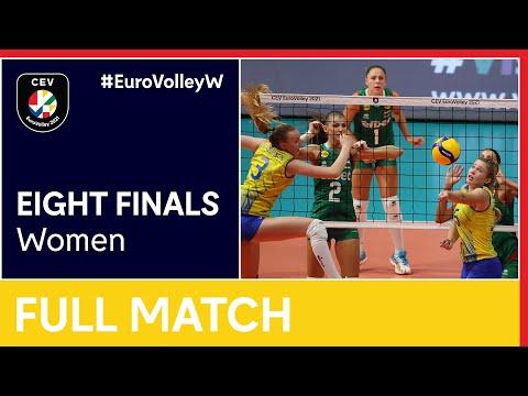 Bulgaria vs. Sweden - CEV EuroVolley 2021 Women | Eight Finals